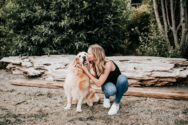 Just a girl and her dog 💜🐕 Beauty: @gracekstokes