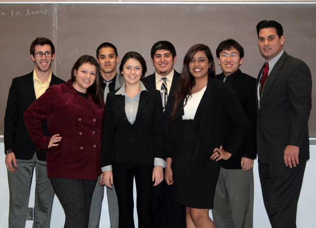 2012 - Many team members achieved near-perfect scores as both attorneys and witnesses against prestigious schools such as Howard University, UC Davis, Stanford and USC. The team tied for third place out of 24 schools and also won a Top-8 trophy at the American Mock Trial Association (AMTA) Regional Competition, hosted by Claremont McKenna College in February.