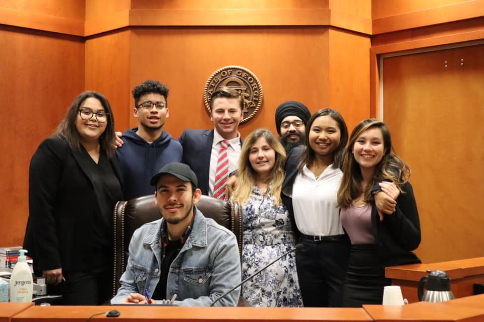 2019 - Coached by alum Jose Contreras CPP' Mock Trial team earned 14 outstanding witness and attorney awards. The team traveled to Decatur, Georgia to compete in ORCS. Here the team earned four outstanding national awards, the most out of any team there.