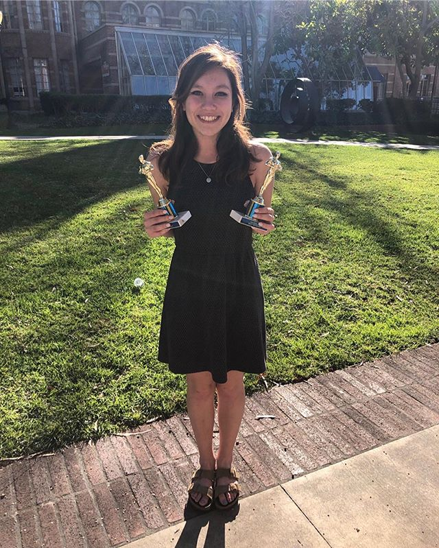 •MEET OUR E-BOARD•  This is Emma Jue-Sans, our President for the 2019-2020 season. Emma is a 4th year Political Science major who has been participating in mock trial since she was 13 years old (too long to be a healthy life choice). When she isn't painting or making short jokes at her own expense, she spends her time trying to figure out what she's going to do after she graduates.