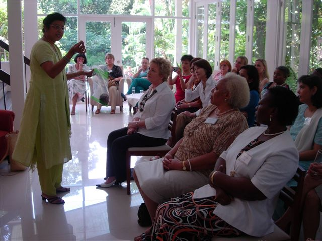 "A TALK on "" The Sacred Lotus""- World Environment Day, 2007  . Organised by the Kuala Lumpur Circle at the Residence of the Austrian Ambassador to Malaysia."