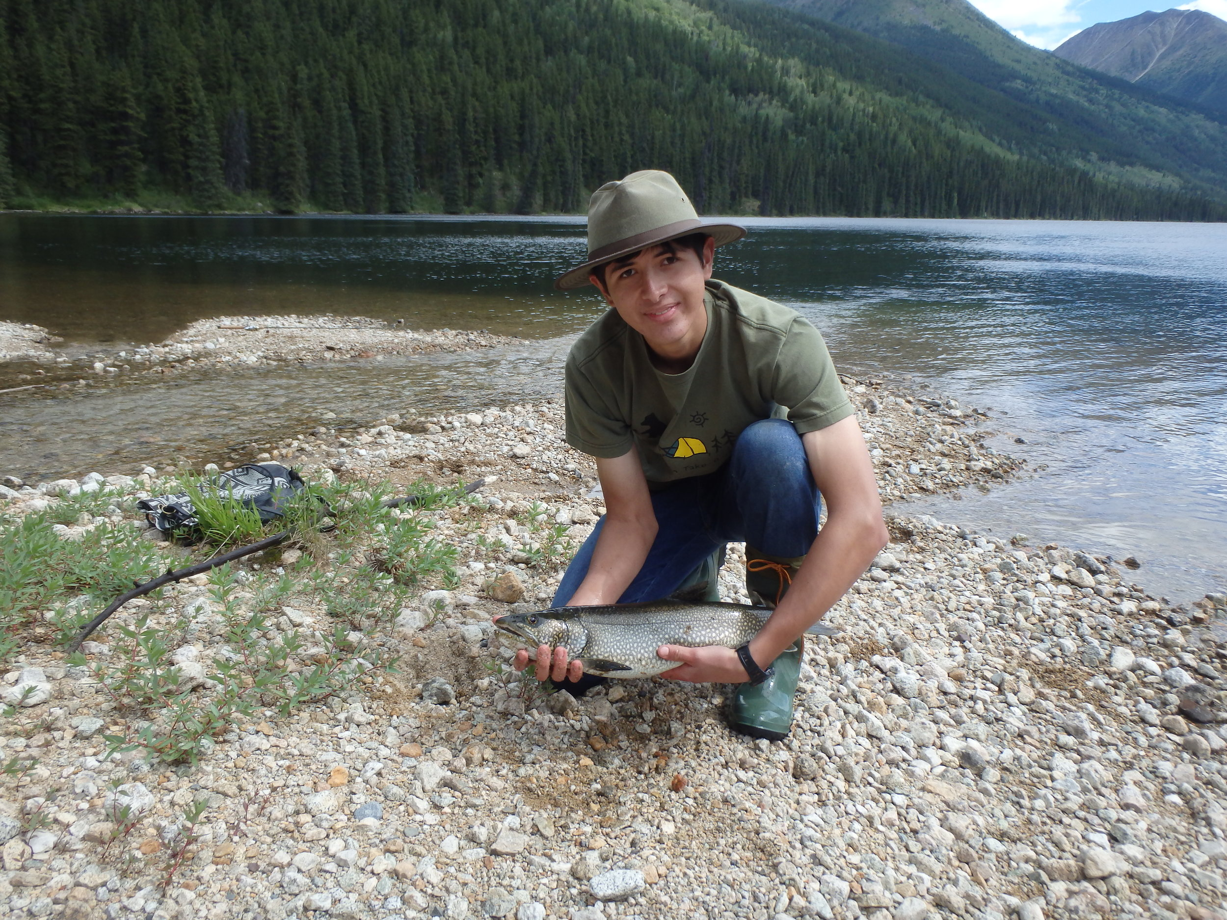 Lake Trout caught in the stream by our Frog river outpost cabin