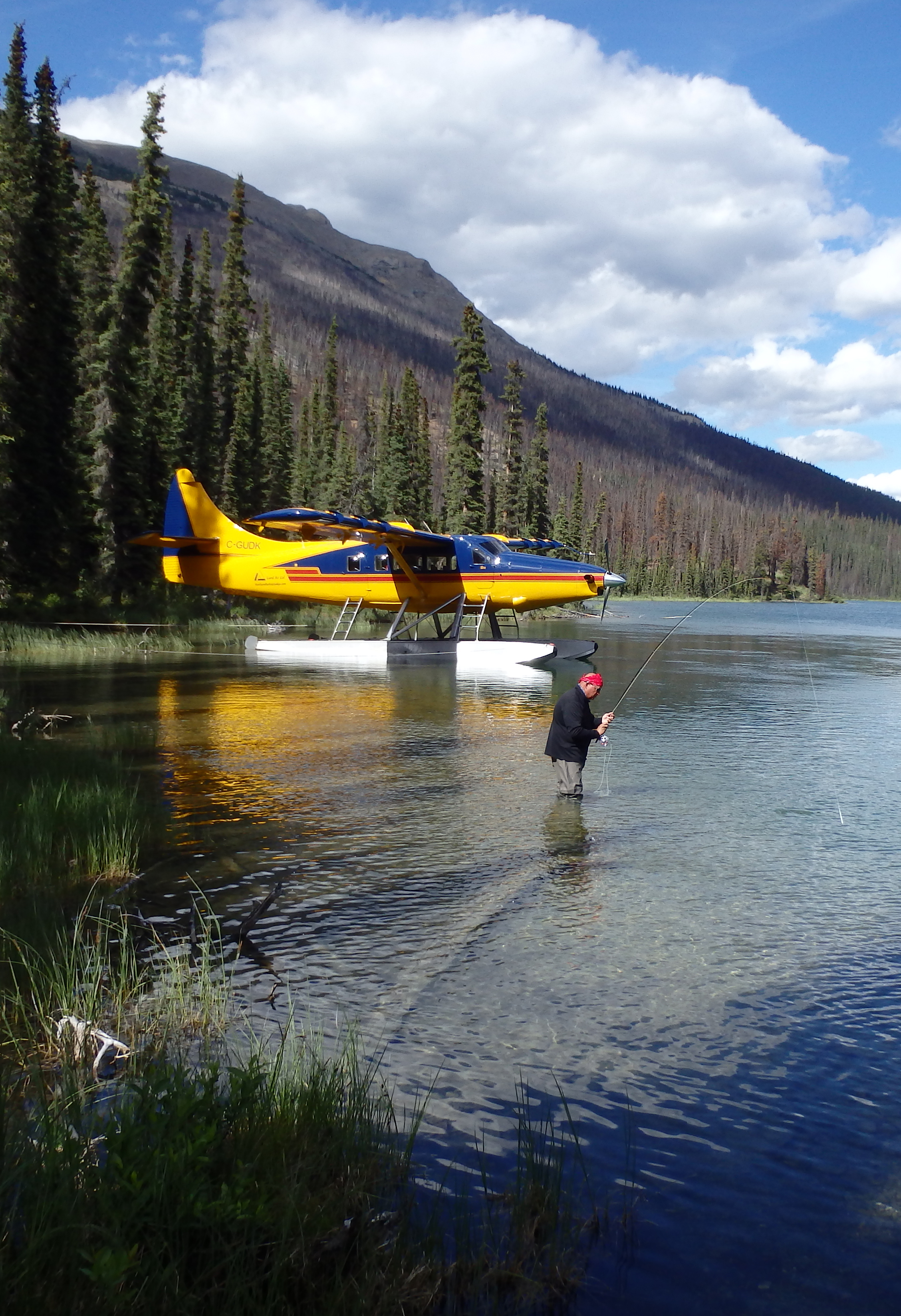 Fly in fishing Northern rockies style