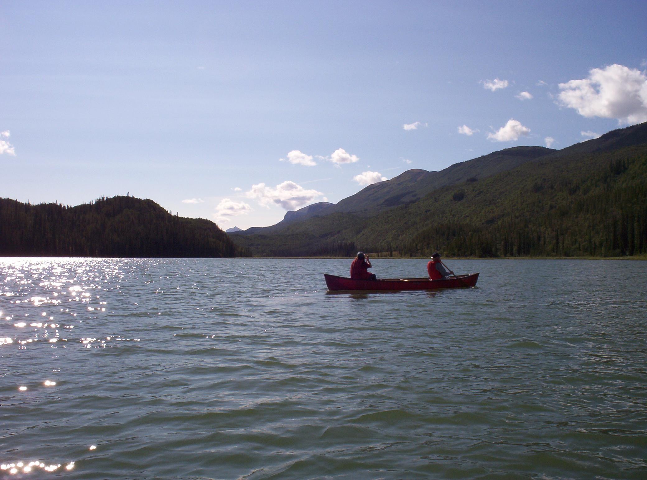 Karl and Marianne canoeing.JPG