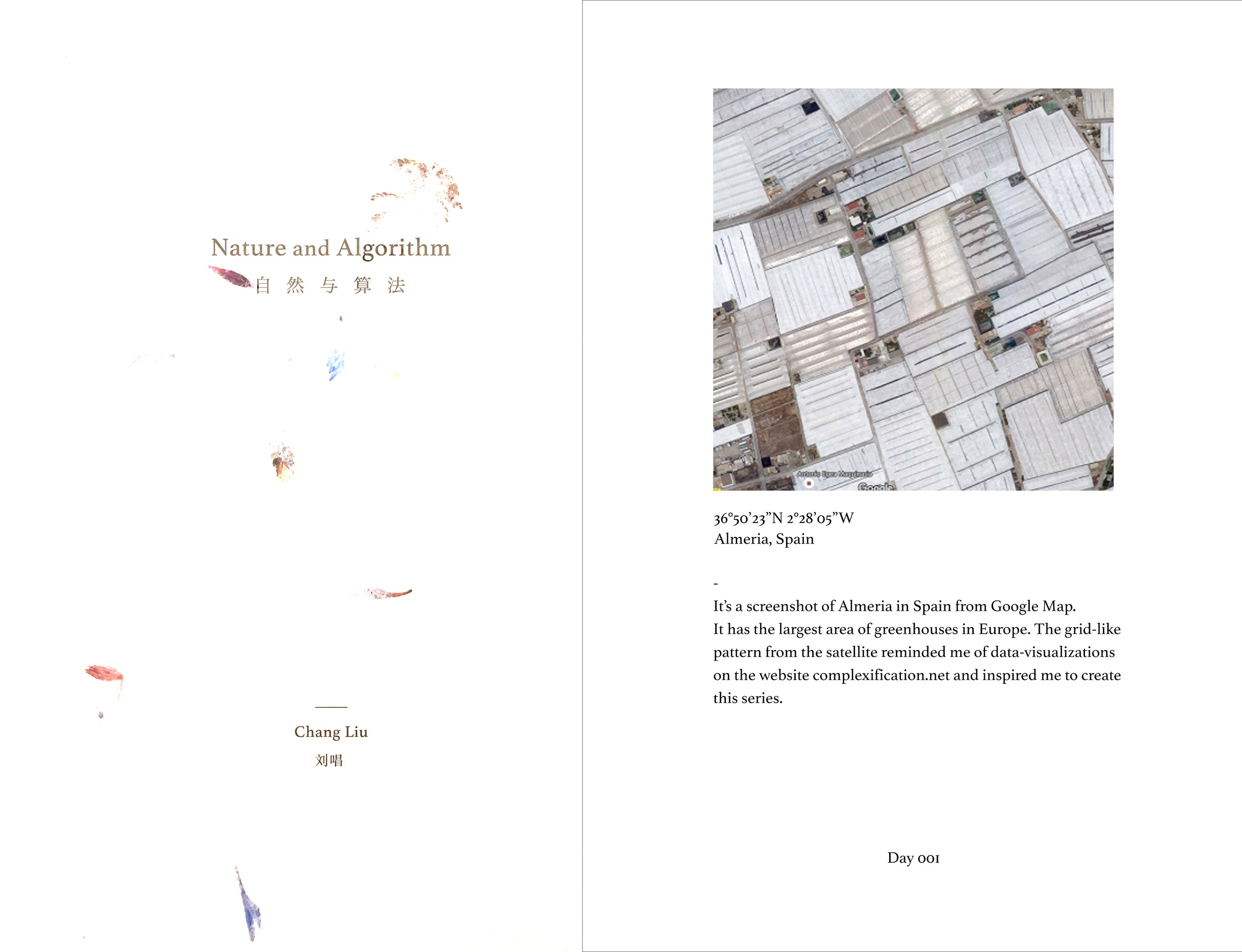 Artist Book《Nature and Algorithm》