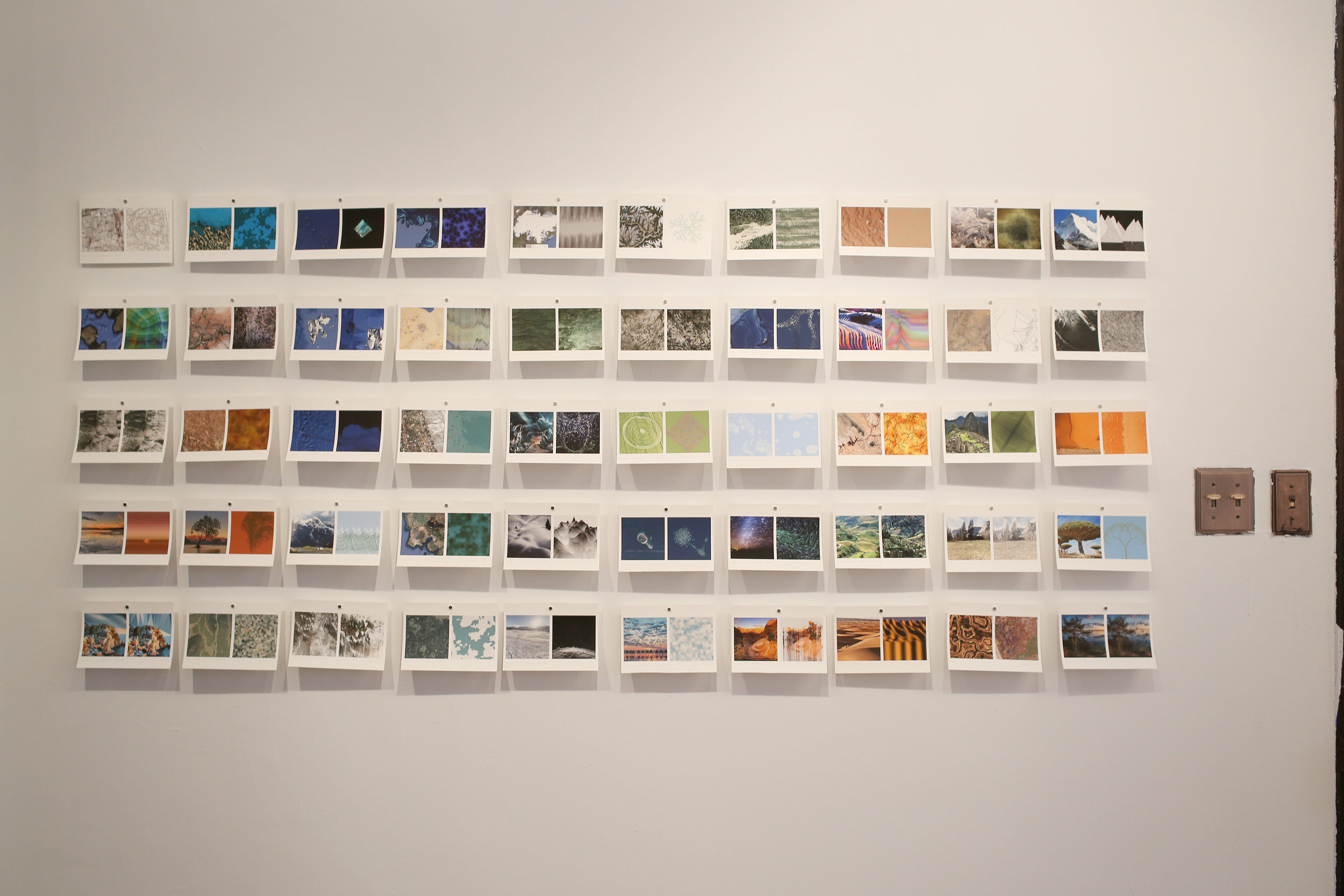 Installation View  of  Day 1 - 50, Prints on wall at Fou Gallery