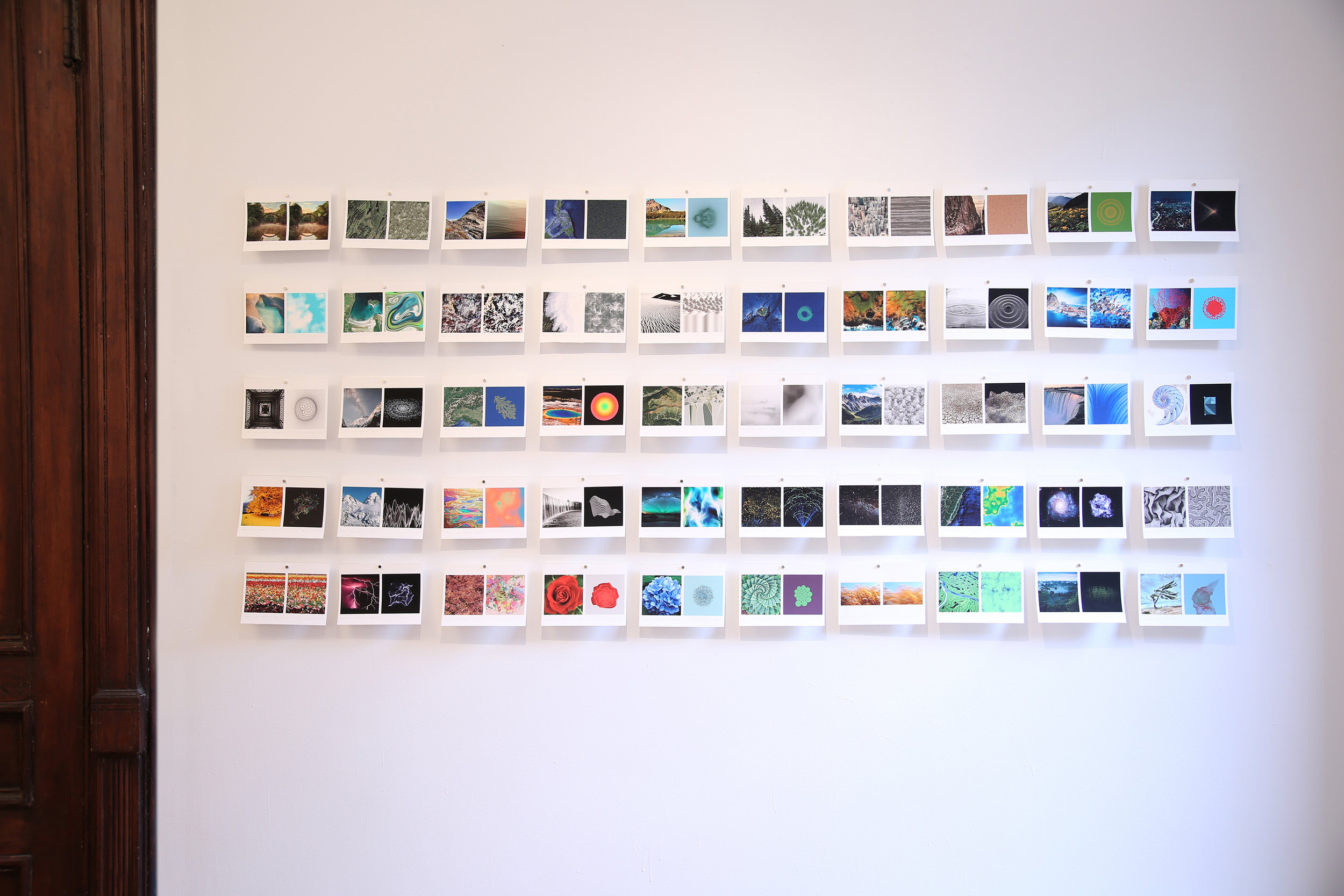 Installation View    o  f     Day 51 - 100, Prints on wall at Fou Gallery