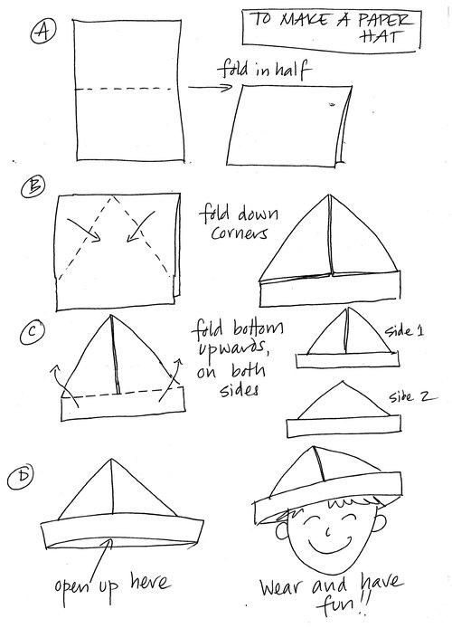 Origami Army Cap | Origami hat, Paper hat, Paper hat diy | 694x500
