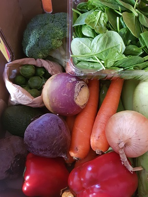 Start with vegies - Root vegetables such as carrot, beetroot, parsnip and swede are all in season now. Potatoes, sweet potatoes, leek, cauliflower and beans are also.