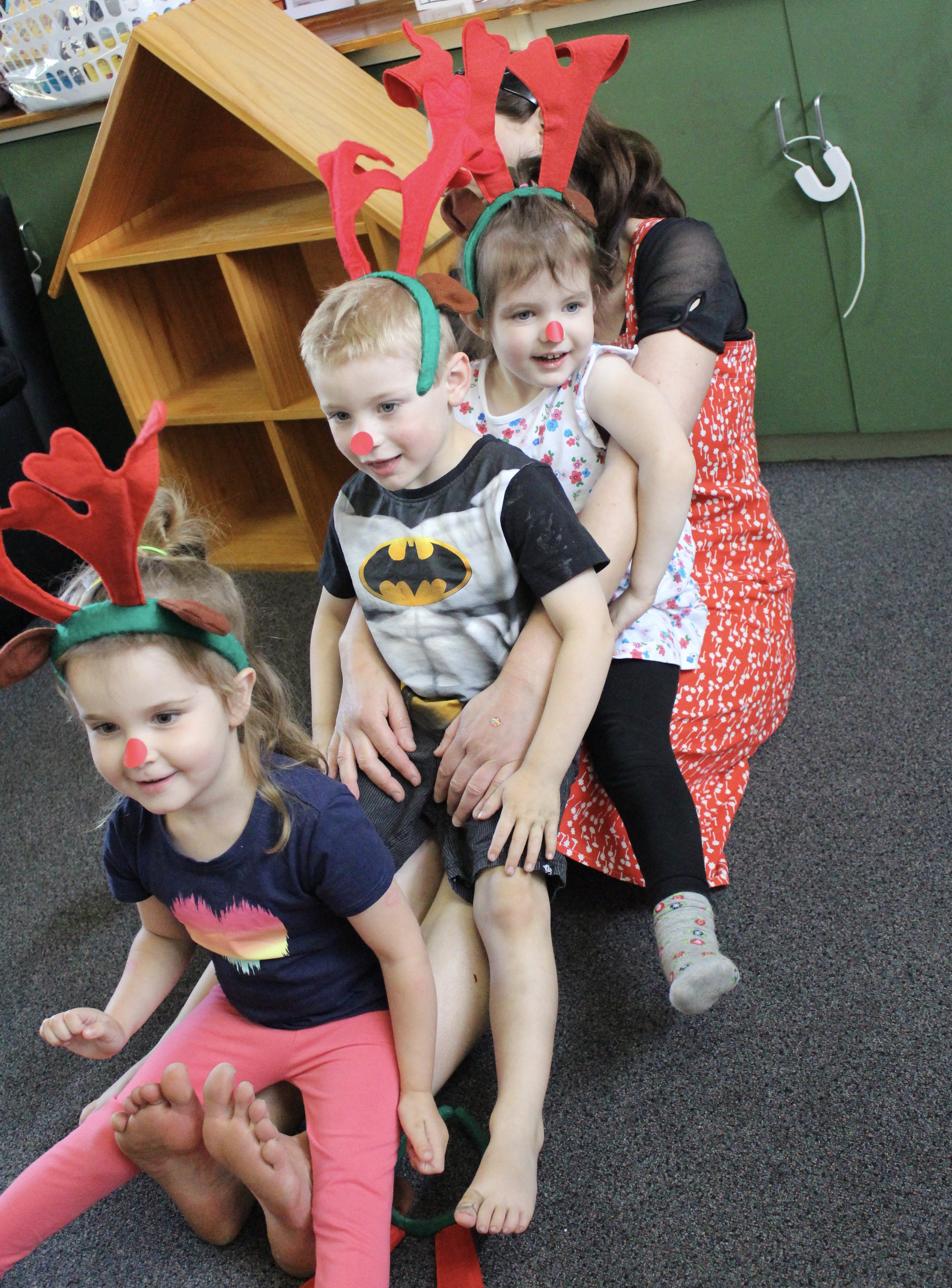 Three little reindeer -more than enough for MY legs!