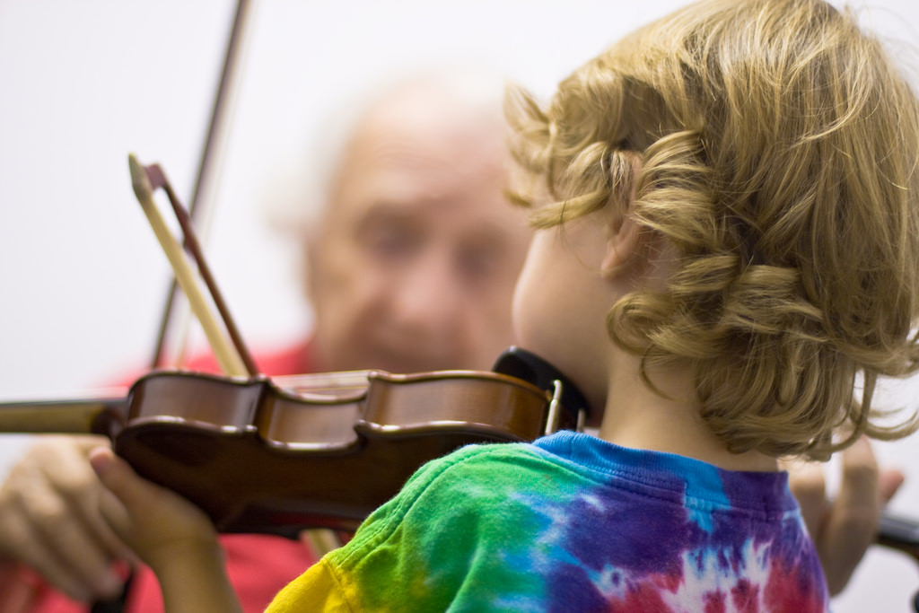 Violins come in small sizes especially for little hands