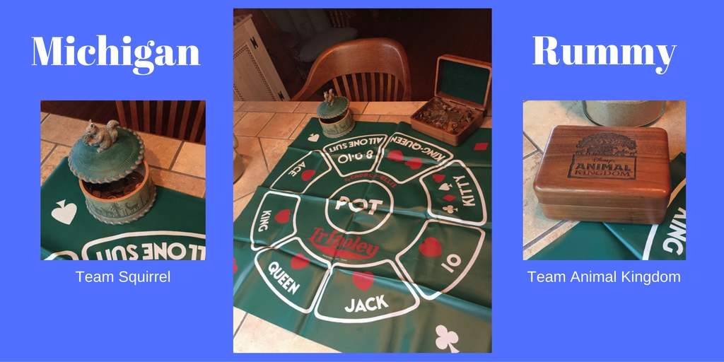 Here is the old school mat for Michigan Rummy, we had to replace the original tray that Michigan Rummy normally has.