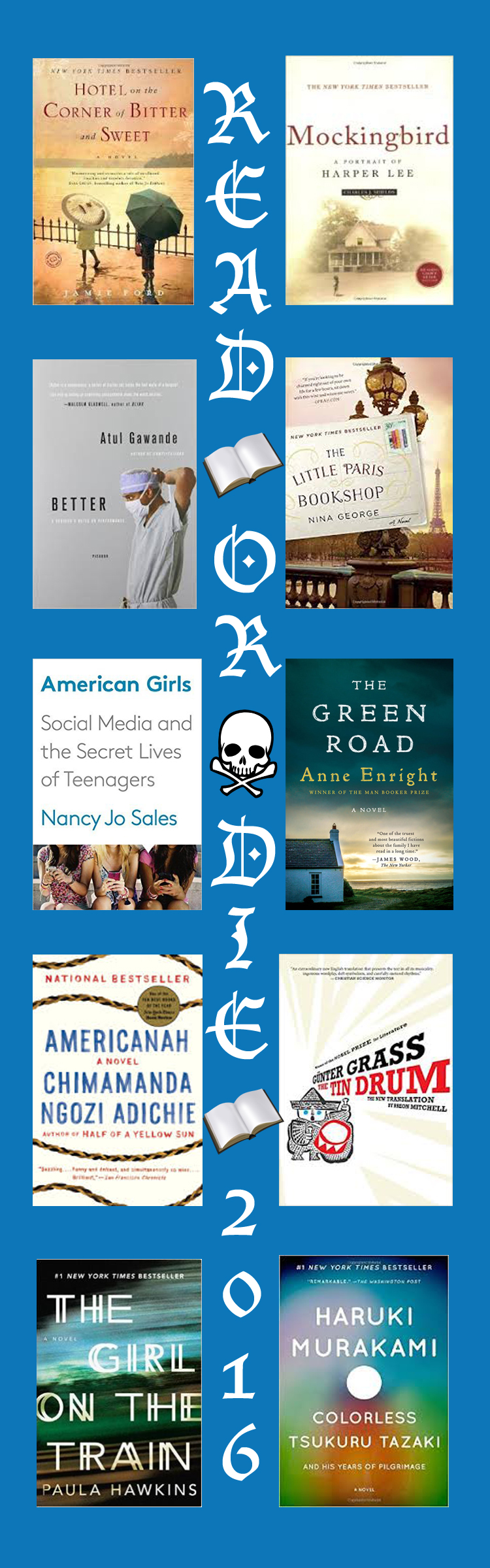We read some fantastic books this year! Better and Americanah were my two favorites.