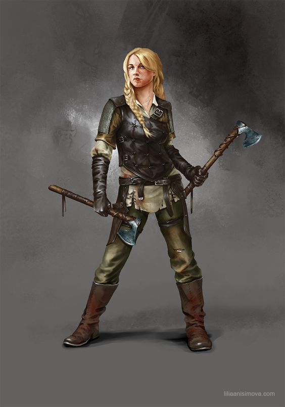 Switch out the axes for a cutlass and dagger and that's pretty much Natasha.