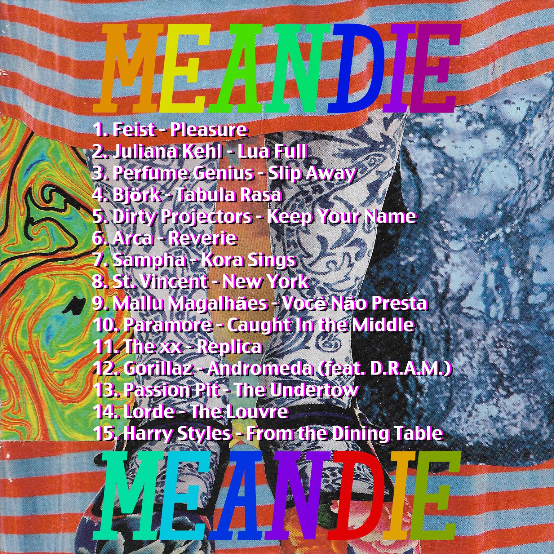 """""""MEANDIE"""" reverse art"""