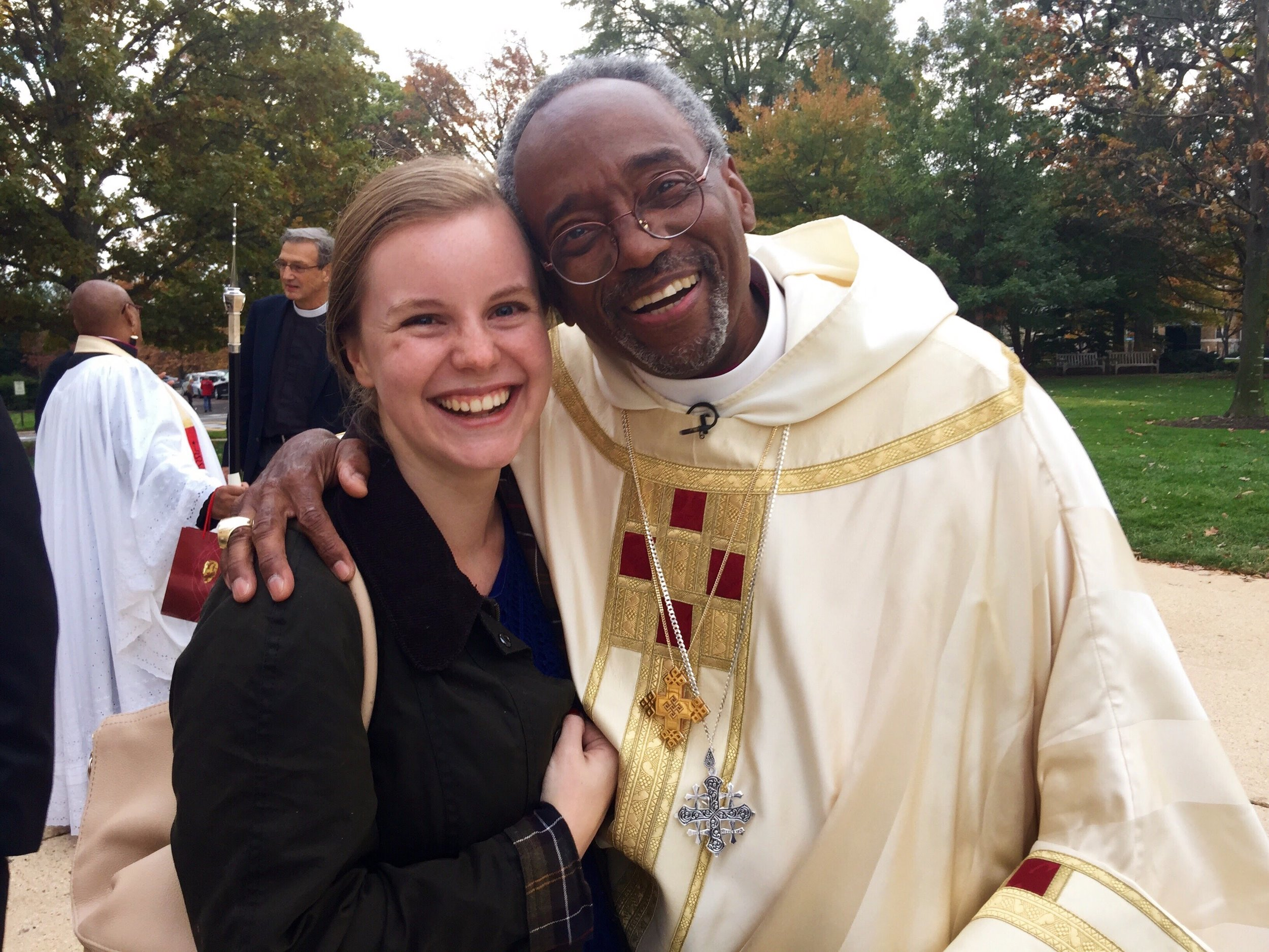 With Bishop Curry in 2015. I'm now one degree of separation from Harry and Meghan!