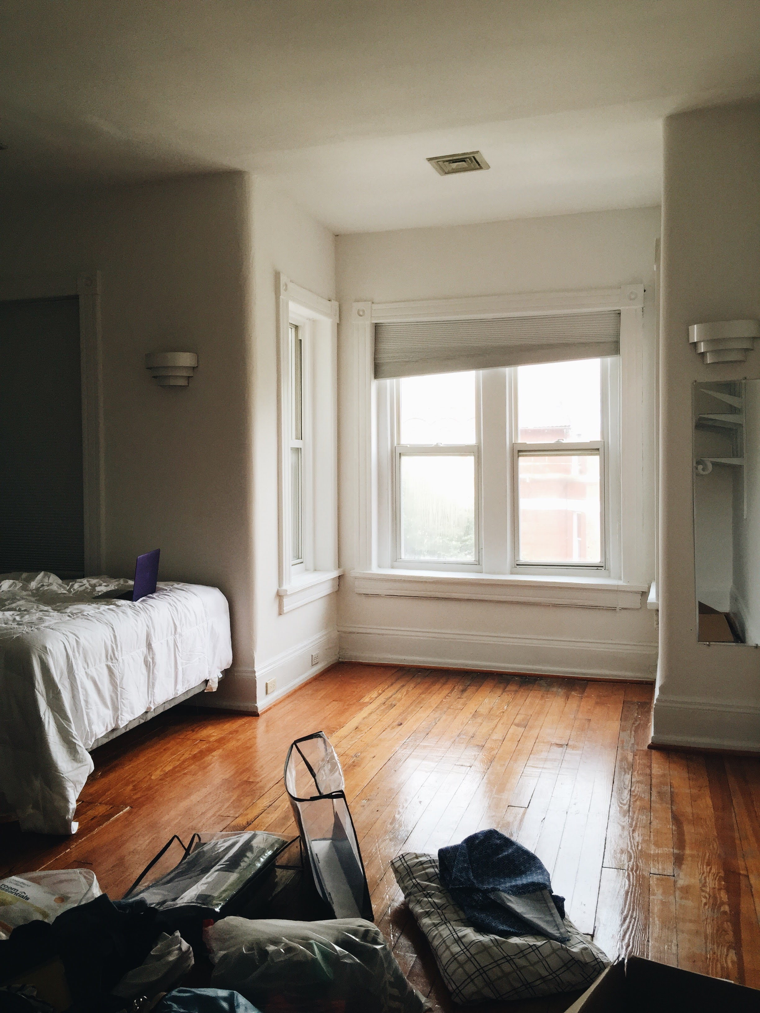 Moving into my first post-grad apartment; July 2015 in Washington, DC