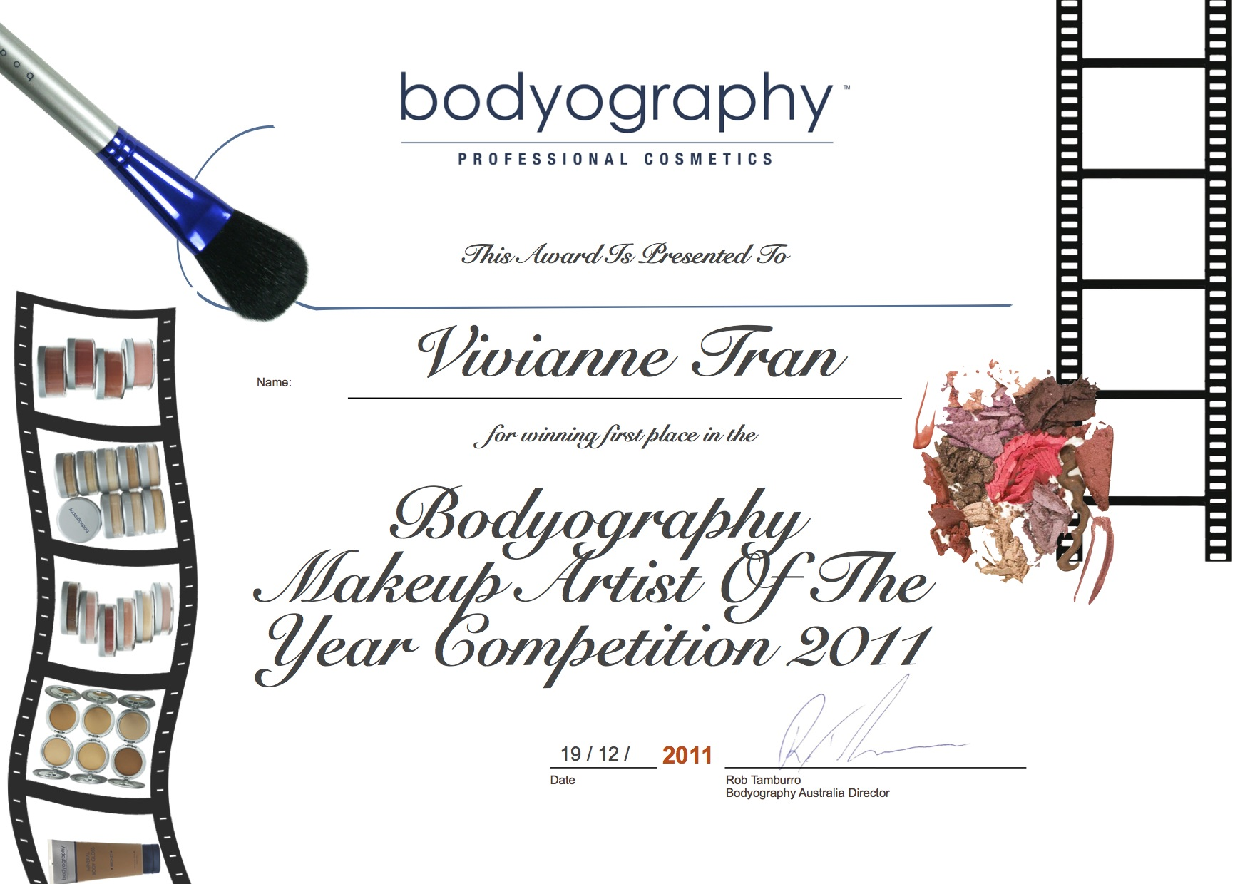 Award vivianne tran bodyography 2011.jpg