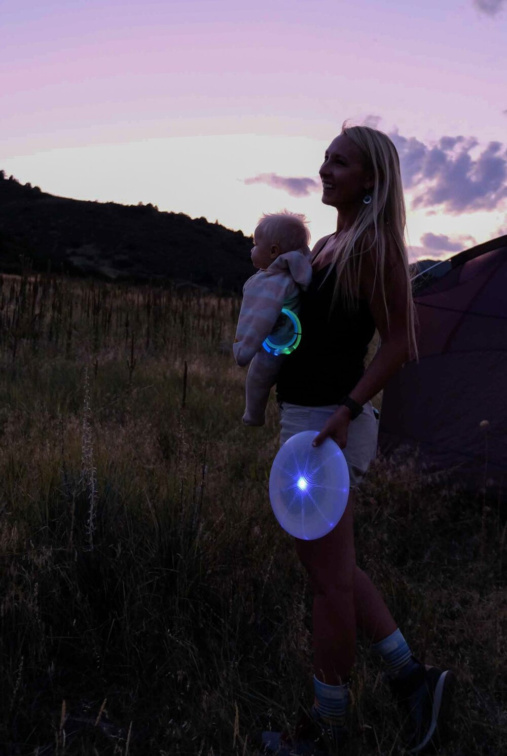 Bringing a frisbee or game for the adults is always fun! We love the Flashflight LED flying disc.