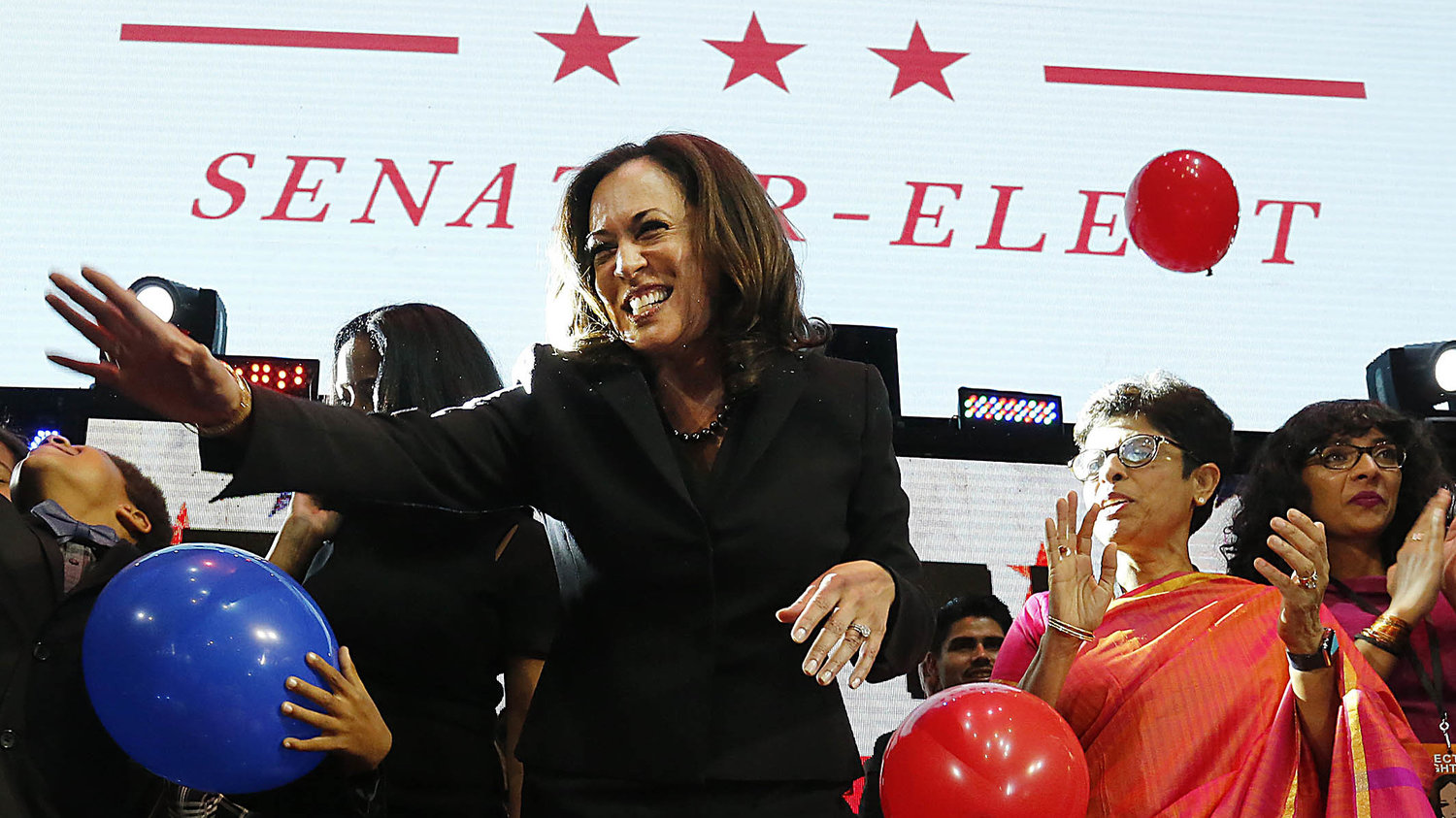 Kamala Harris, the first biracial woman elected to the Senate. Harris is African-American and South Asian-American.                                  Source: NPR