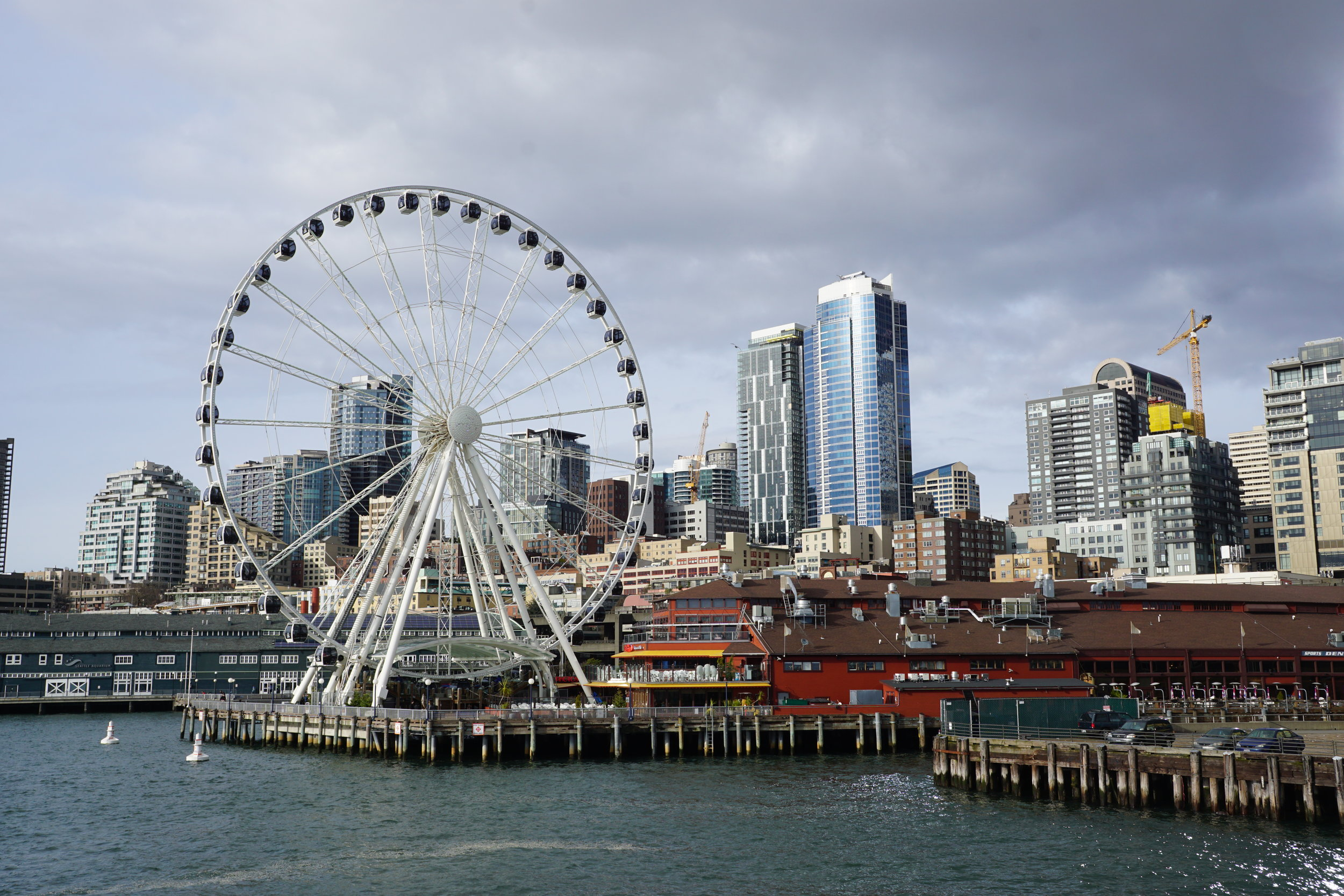 """""""Ferris Wheel"""" Photo taken by Calvin Harjono -The Argosys Cruise is an hour long guided boat tour of Seattle. It goes around the entire perimeter of the pier with a narration of historical and significant points of Seattle. This is super awesome for those who want to learn about the history of Seattle while getting a full view of the beautiful city!"""