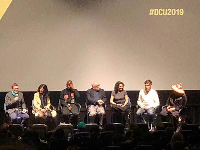 Still cannot believe last night with Debra Granik, Barry Jenkins, Paul Schrader, Tamara Jenkins, Bo Burnham and Boots Riley. 🙌🏽😍 #dcu2019