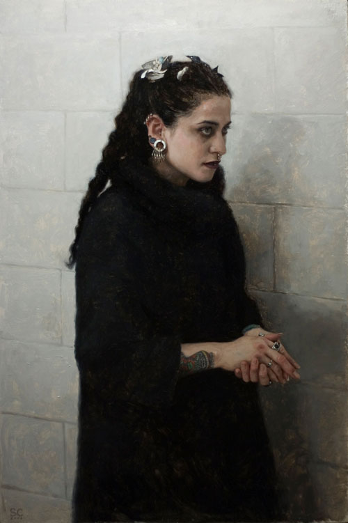 "Black Lamb- oil on panel 20x15"" 2007"
