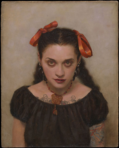 "Portrait of Chantal Menard oil on panel 10x8"" 2004"