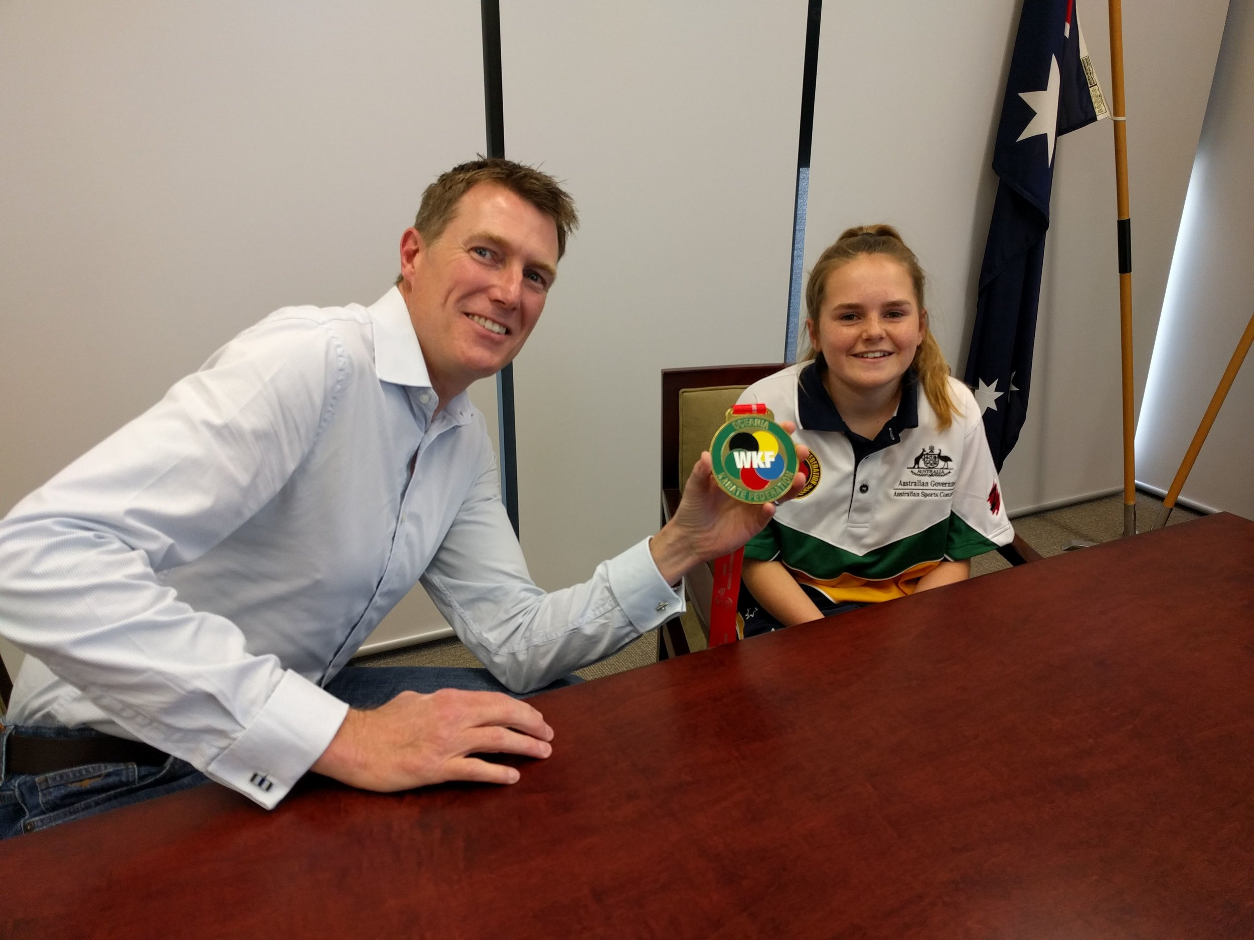 One of our Local Sporting Champions grant recipients, Jelena from Northam, recently competed and won gold at the 2016 Oceania Karate Championships in New Caledonia!