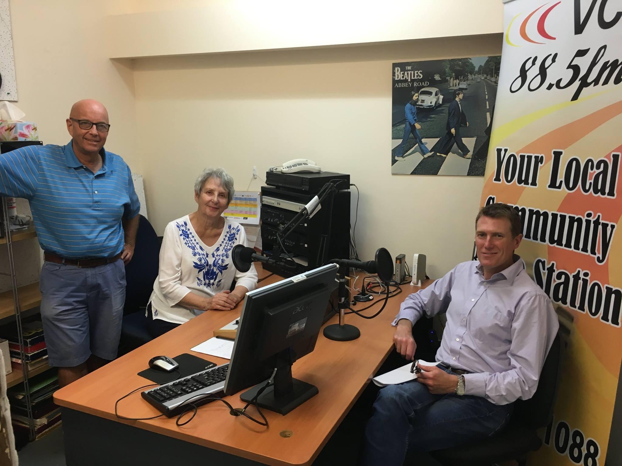 Graham Dore, Beryl Eissens and Christian Porter