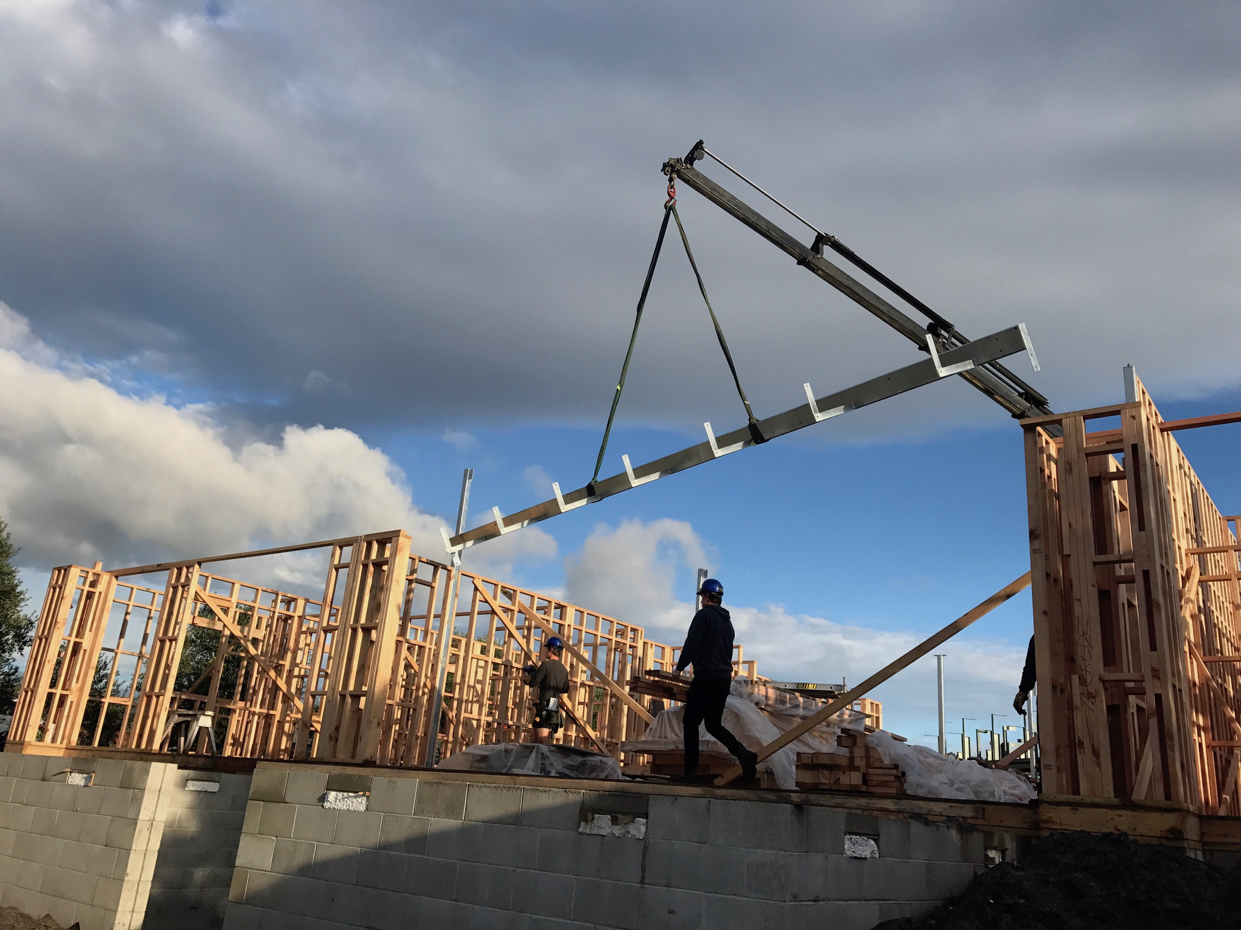 90 Degrees Construction is involved in the construction of two architecturally designed homes in Pauanui, one recently finished (below) and the other expected to be completed by next April.