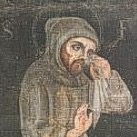 Francis weeping at Greccio,  contemporary portrait.