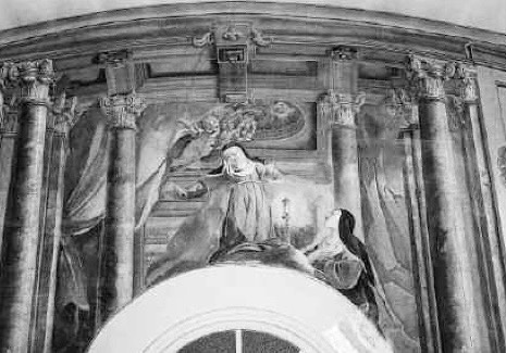 Monticello, Florence. Fresco of Saint Agnes.