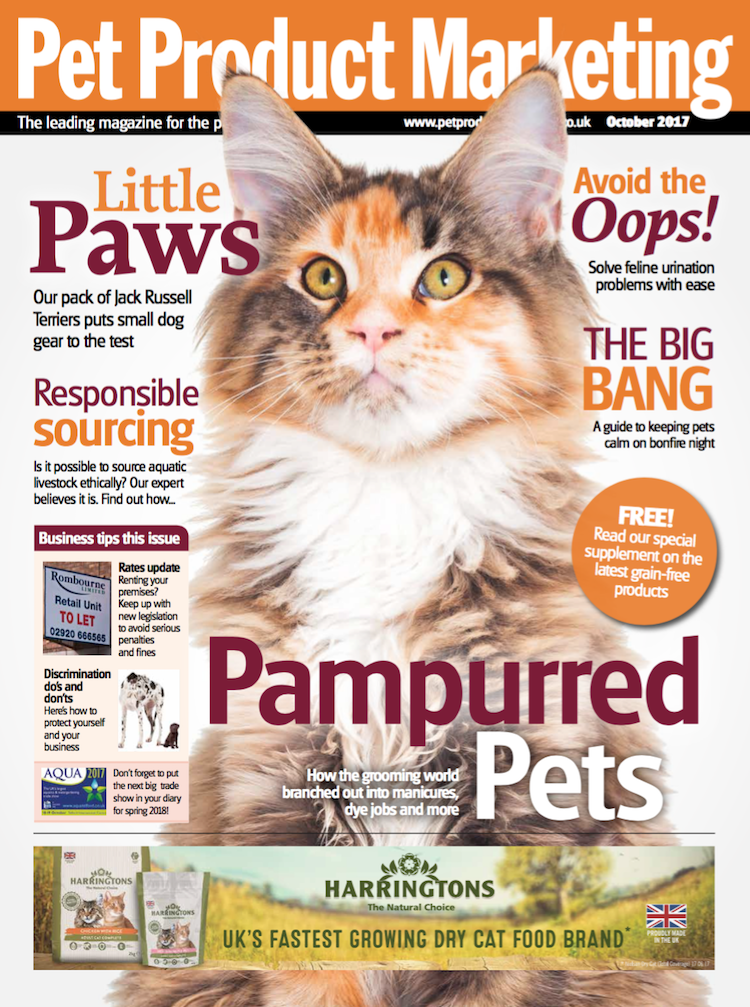 INSIDE THIS ISSUE  Pampurred pets – because it doesn't just stop at grooming!  Small dog special – our team of JRT's put kit to the test  A wee problem – how to help stop cat urination issues