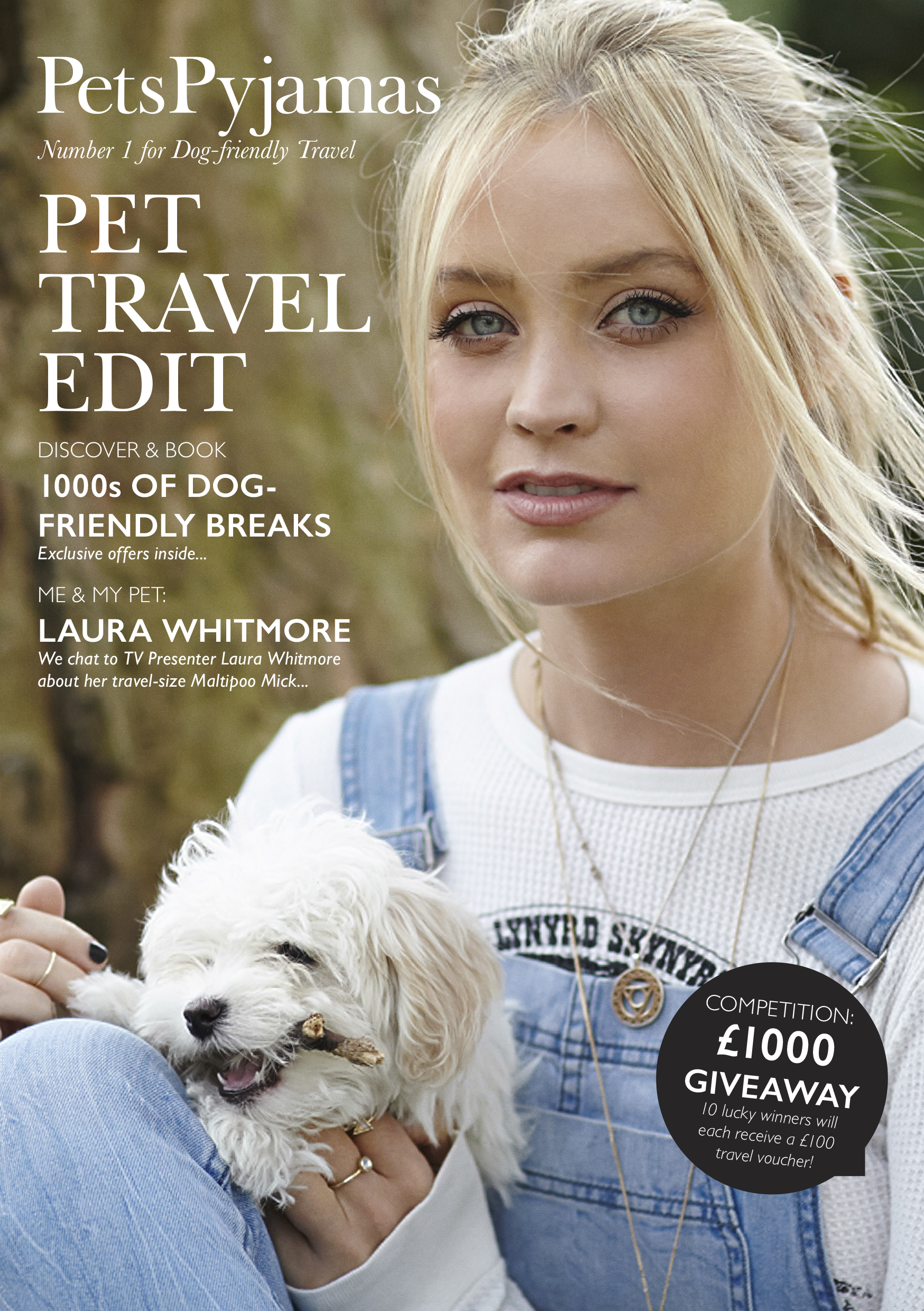 Celebrity Laura Whitmore appears on the cover.