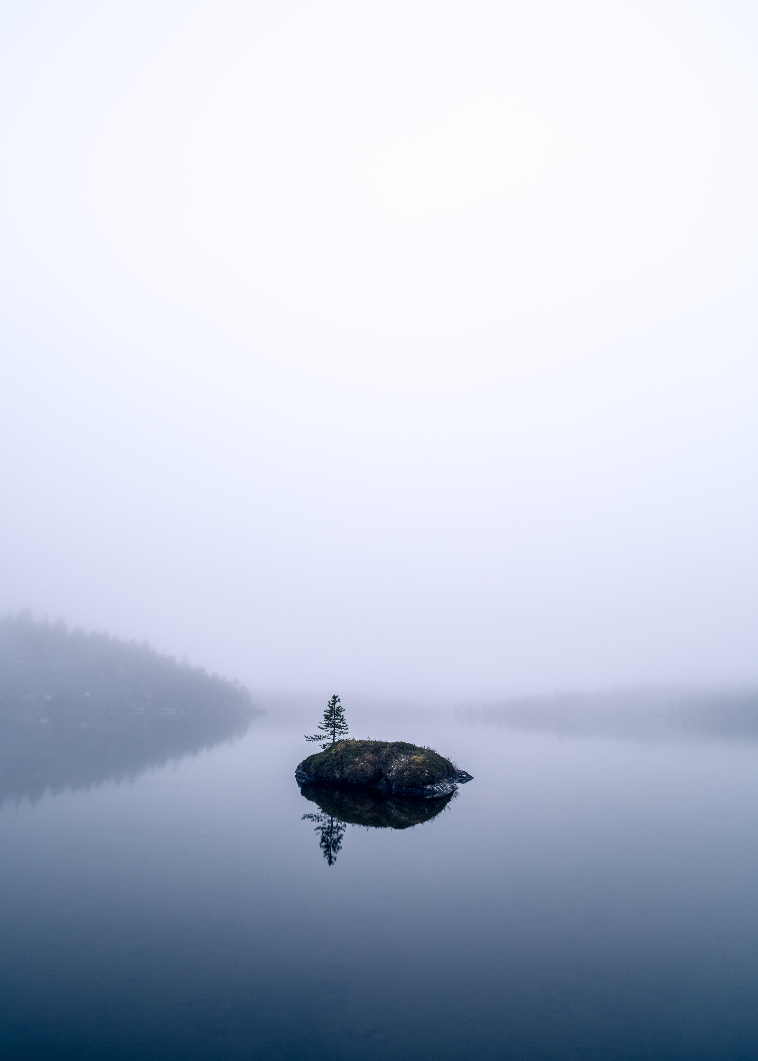 Solitude - A misty moment on one of the many beautiful lakes.