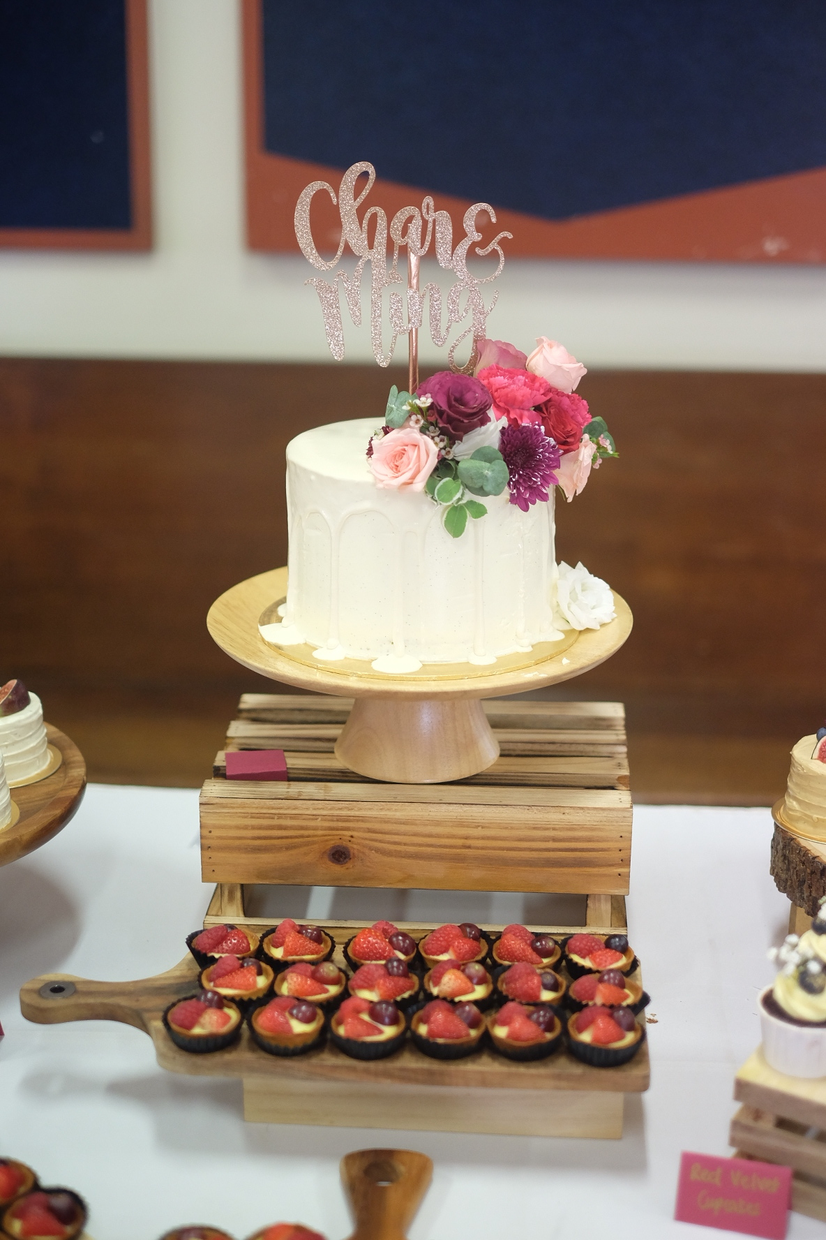 #Charming's Lunch Reception Dessert Table