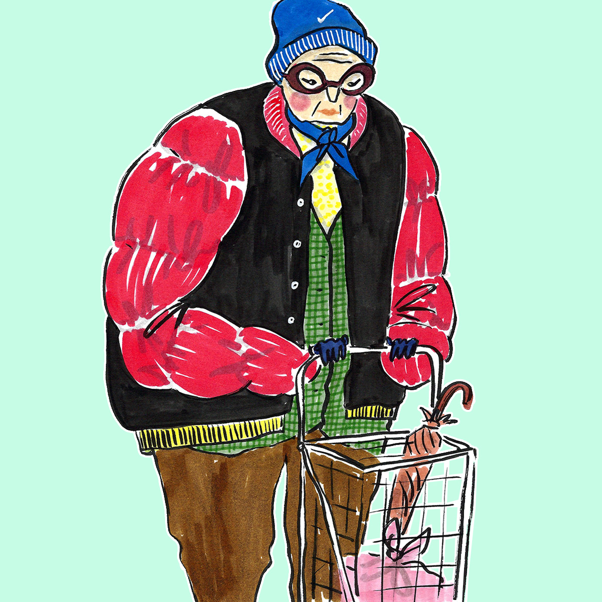 supermarket ladies new york senior fashion | prettyugly.eu