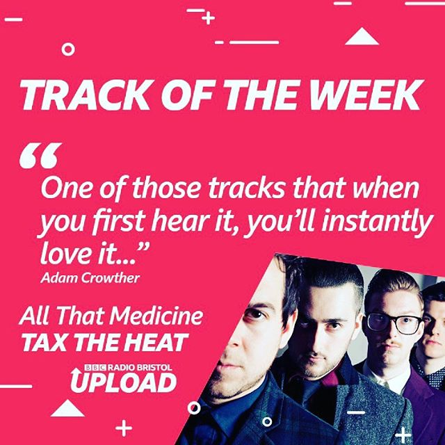 'All That Medicine' is track of the week on @bbcupload big shout out @adam_crowther for diggin' our vibe. Being played everyday this week from 7pm on BBC Bristol. ———- @bbcintrowest @bbcsounds @bbcradio2 @bbcradio1 @bbcintroducing @bbcbristol #newmusic #guitarsarentdead #absolutebanger #allthatmedicine #taxtheheat #bbcupload #uk #ukband #dobelievethehype #jpsnameispeaches