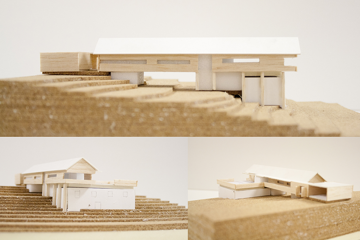 Enebolig, Sør-Fron. Skisseprosjekt nybygg på gammel fjøsmur