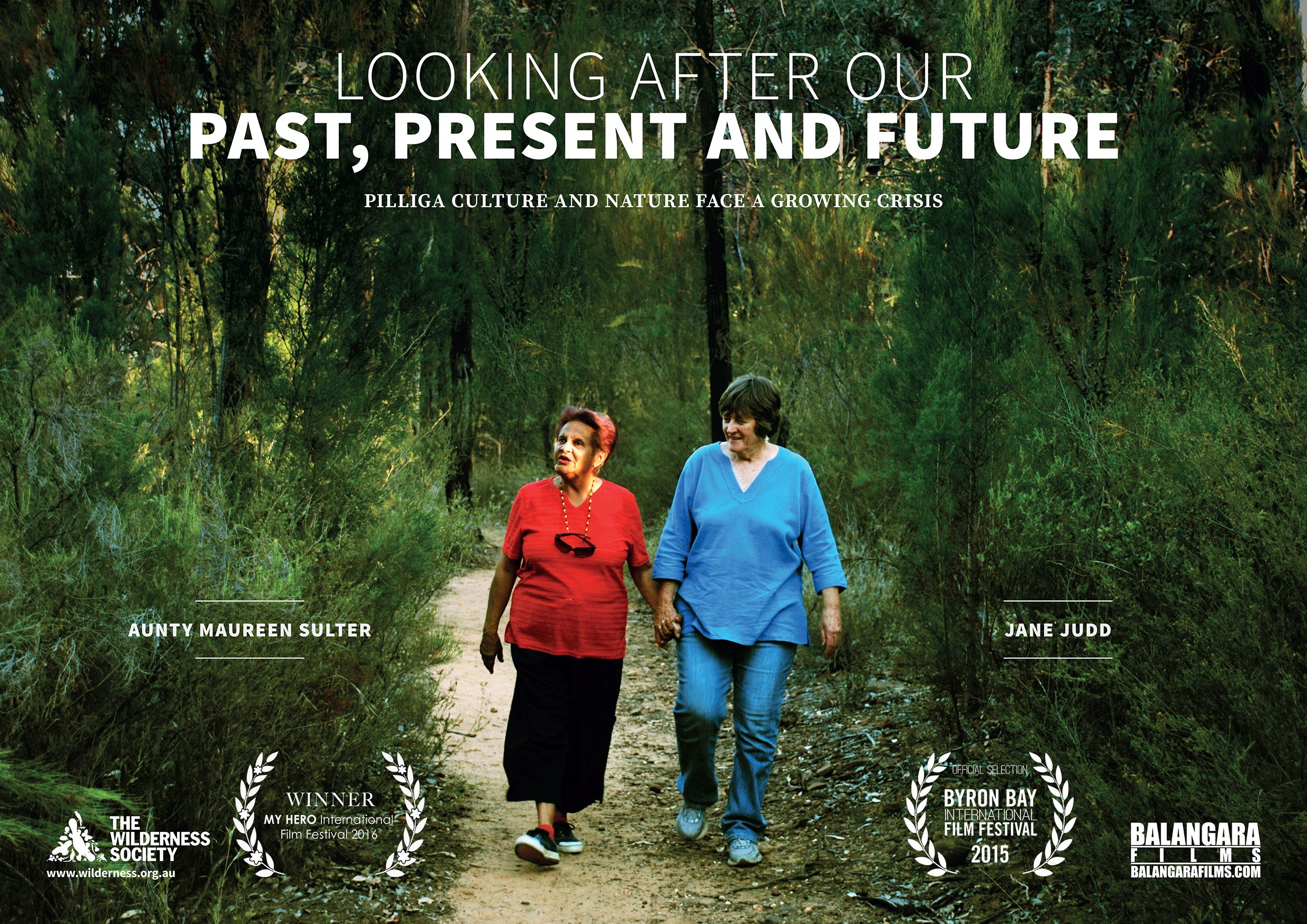 November 4, 2016 PILLIGA FILM WINS 3rd PLACE AT MY HERO IFF  Looking After Our Past, Present and Future   a story about the natural and cultural significance of the Pilliga has won 3rd Place in the environmental category at the 12th  My Hero International Film Festival  in California. We are honored to be part of this important humanitarian festival that celebrates hero's who are changing the world.  The 8-minute film produced for The Wilderness Society centers around the relationship between Aunty Maureen Sulter, a Gomeroi Elder, and Jane Judd, a local resident from the Pilliga region. It focuses in on the significance of our local traditional language diversity and how that's connected to the biodiversity in the Pilliga.  Following the festival, the film will be celebrated online on the MY HERO website winners page and shared with millions of people worldwide.  My Hero website   A second Balangara film   Looking After Our Greatest Blessing   also picked up an Honourable Mention at the United States festival. The film features Anne Kennedy, President of the Great Artesian Basin Protection Group who is determined to save the precious clean water beneath the Pilliga forest for communities throughout New South Wales before coal seam gas mining companies contaminate the groundwater.  The festival winning films will be screened on Friday 18 November between 5-9pm and awards ceremony takes place after another session of films on Saturday 19 November at 7:30pm.  Where: Ann and Jerry Moss Theater  Herb Alpert Educational Village  Capshaw-Spielberg Center for Educational Justice  3131 Olympic Blvd. Santa Monica, CA 90404