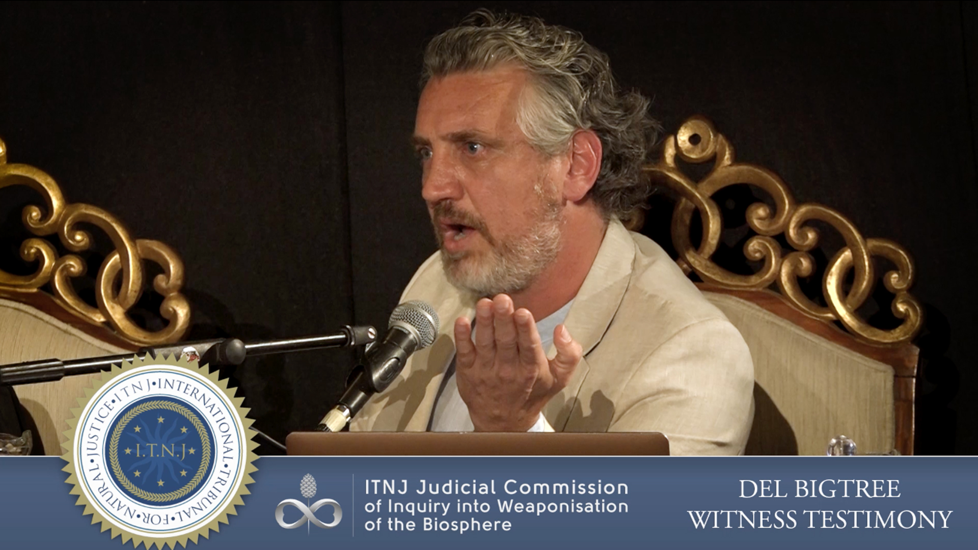 8th September, 2019 DEL BIGTREE - BIG PHARMA TESTIMONY  In association with the International Tribunal for Natural Justice (ITNJ), Balangara Films has produced many videos for the ITNJ Judicial Commission of Inquiry into the Weaponisation of the Biosphere. A sobering deposition from the Informed Consent Action Network (ICAN) founder, Del Bigtree, who has already won two lawsuits against Health & Human Services. Music credit:   Yvon Mounier     Watch Del Bigtree's FULL TESTIMONY at   https://commission.itnj.org