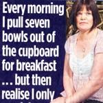 Every morning I...