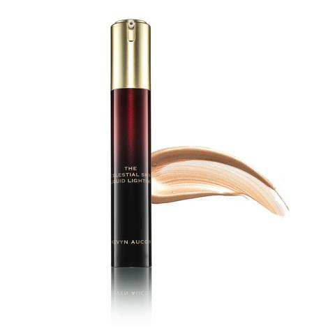 "*Pro Tip:  To ""bump up the look"":  Add a highlighter to your foundation for an all-over glow. Kevyn Aucoin's ""The Celestial Skin Lightening Liquid"" is a waterproof and 12-hour wear, cream and gel hybrid formula that can be used to illuminate and as a skin treatment primer and foundation developer.  The formula glides on easily, bringing an illuminating effect to the complexion, and it absorbs into the skin without leaving a pale, powdery finish."