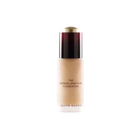 - Kevyn Aucoin - The Sensual Skin Fluid Foundation An oil-free, luxurious, ultra-lightweight serum foundation that provides luminous coverage. The Sensual Skin Fluid Foundation with its weightless, serum-like formula goes on the complexion for a no makeup feel.