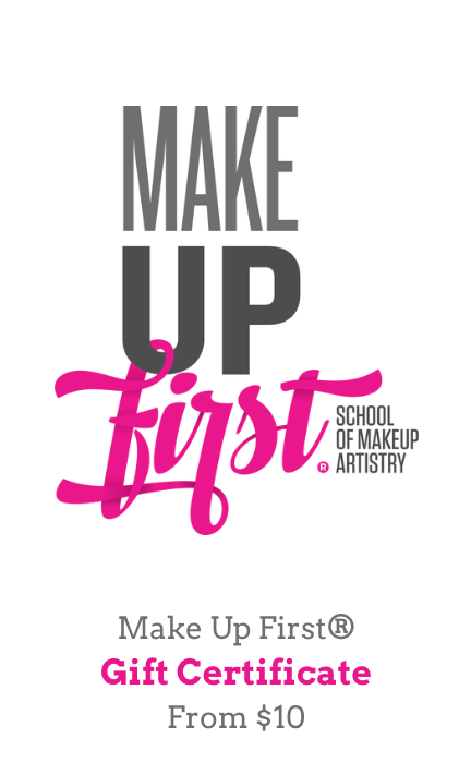Gift certificates are delivered by email and contain instructions to redeem them at checkout. Our gift certificates have no additional processing fees.Can be used at Make Up First® School and Make Up First® Pro Shop. -