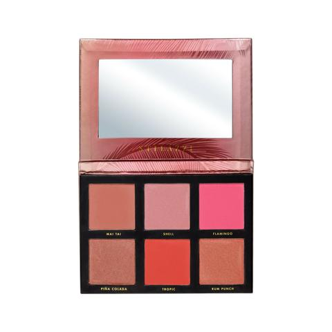STILAZZI Bahamas Blush Palette - Complete with mattes and shimmers, this blush palette is the ultimate sunny day go-to. Feeling adventurous? Try it around your eye for extra emphasis.