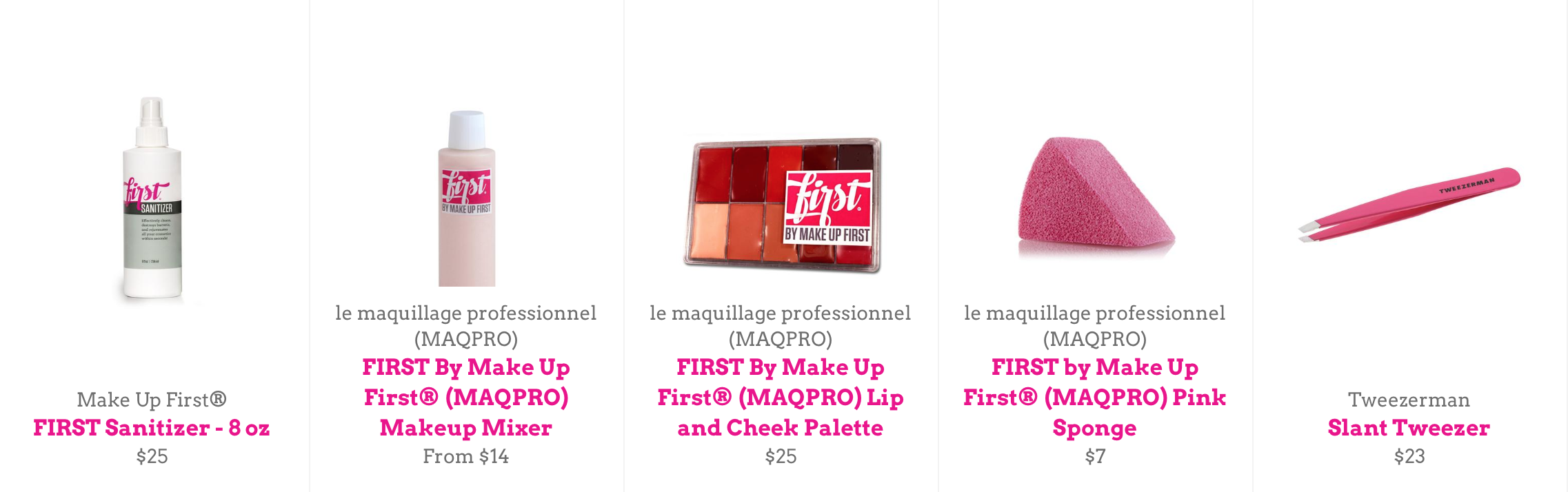 Make Up First Pink Picks 3