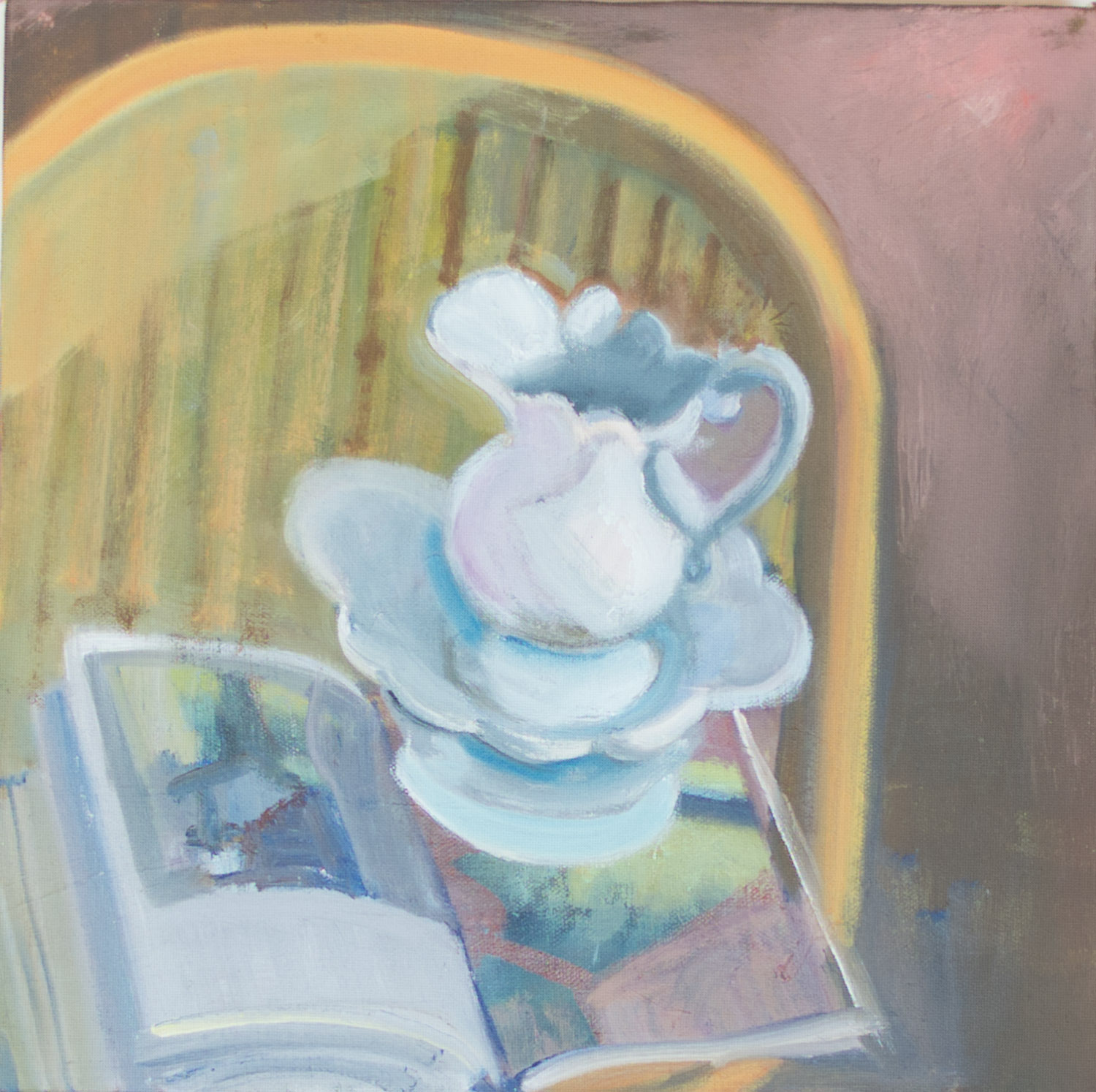 Pitcher with Open Book