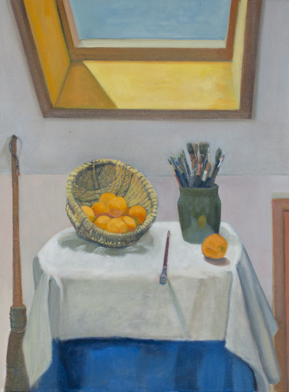 Oranges with Paintbrushes